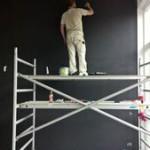 Binnenschilderwerk woning, sauzen muren 1